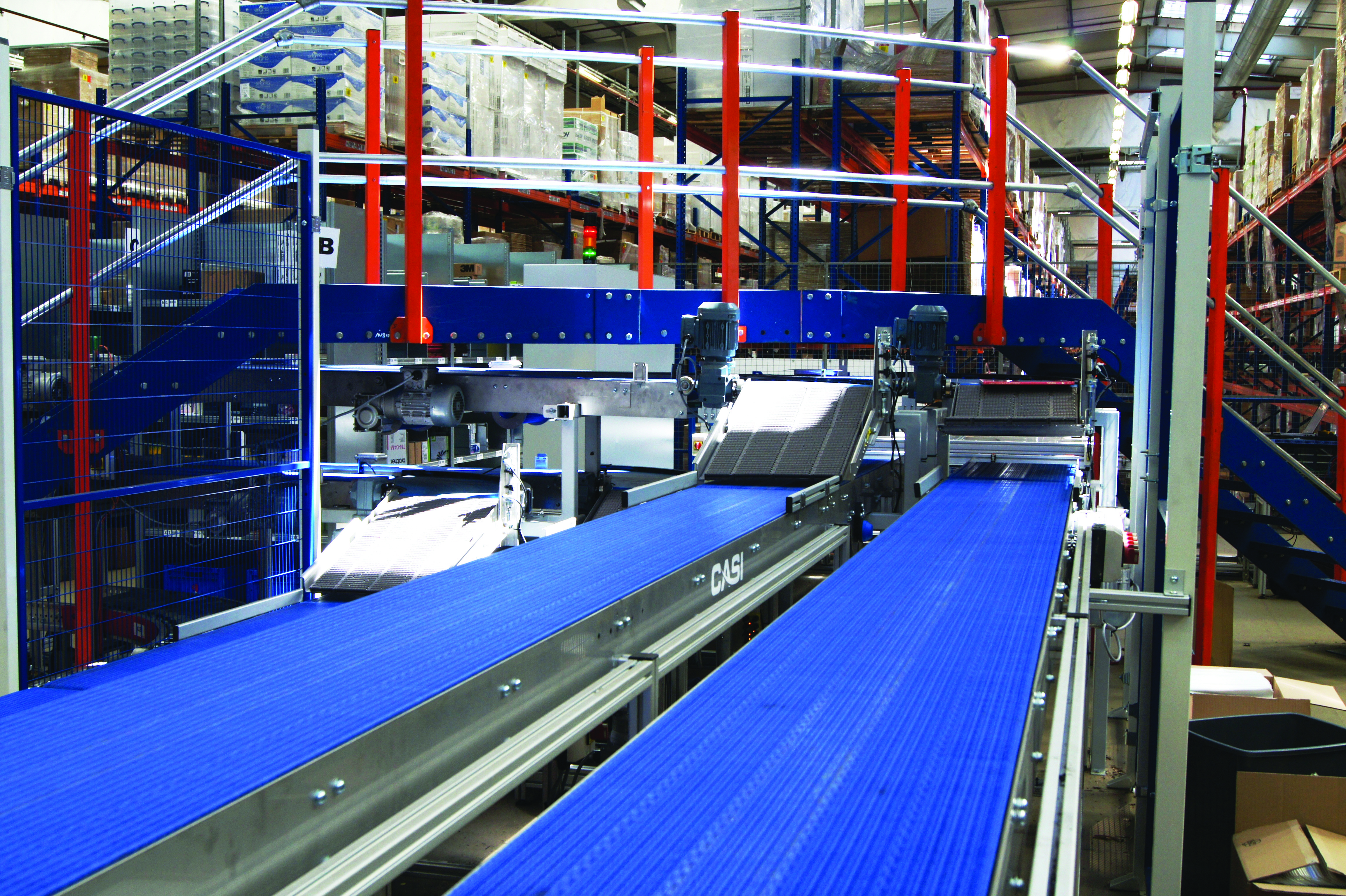 SPHERE Powered Roller conveyors used cutting-edge 24V DC technology from Interroll, which proved to be energy saving and highly efficient.