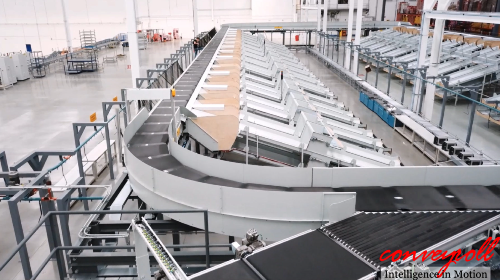 Conveyroll relies on strong partners with proven solutions, like the Interroll Crossbelt Sorter.